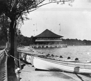 Lake Harriet boat dock and pavilion ca. 1892