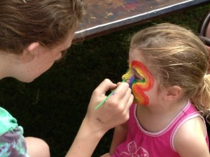 face painting at the festival