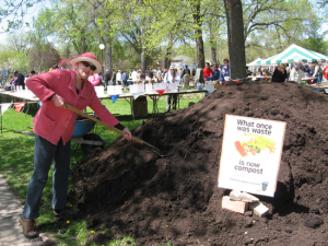 compost pile at the Festival